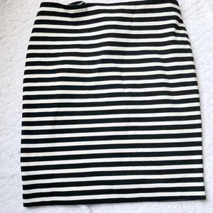 Merona Target Black and White Striped Pencil Skirt